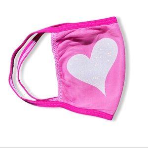 PINK DYE GLITTER HEART FACE MAKS